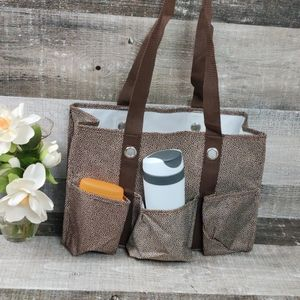 Thirty-one brown dot utility tote